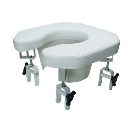 Lumex Multi-Position Open Padded Raised Toilet Seat