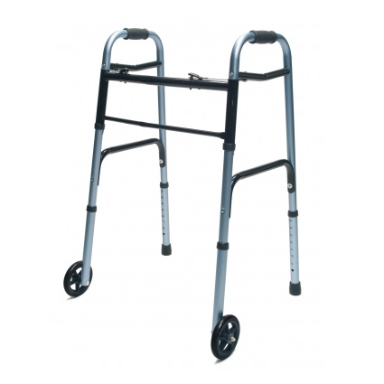 "Lumex Everyday Dual Release Walker with 5"" Wheels"