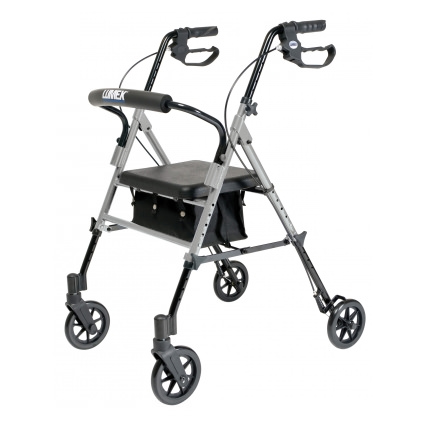 Lumex Set n' Go Wide 2-in-1 Height-Adjustable Rollator