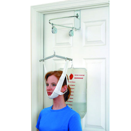 DMI Hook and Loop Strap Closure Cervical Traction Kit Overdoor