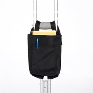 "Maddak Nylon Crutch Bag, 9"" x 6"" x 1-1/2"", Black"