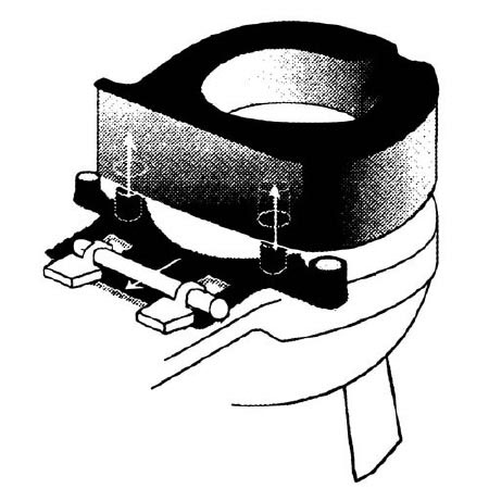 Lok-In Elongated Models Toilet Bracket 15.25 X 6.25 X 1.5 Inch
