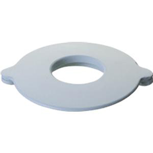 """Marlen All-Flexible Oval Convex Mounting Ring 1-1/8"""", White Vinyl"""