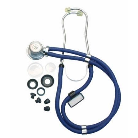 McKesson Double Lumen Sprague Stethoscope, Teal Blue, 22 Inch Tube