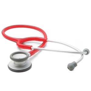McKesson Single Lumen Classic Stethoscope, Red, 22 Inch Tube