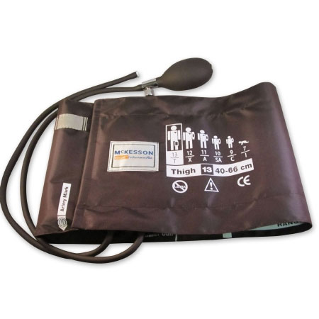 LUMEON 2-Tubes Aneroid Sphygmomanometer with Cuff, Adult Large, Brown