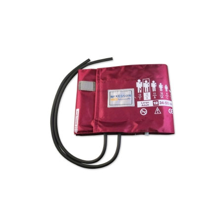 McKesson Reusable Arm Blood Pressure Cuff, Large Burgundy Cuff
