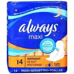 Always Maxi Overnight Absorbent Feminine Pad