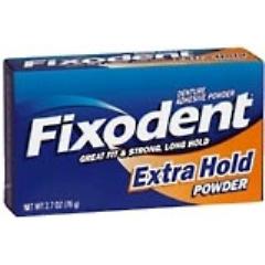 Fixodent Extra Hold Denture Adhesive Powder, 1.6 oz.