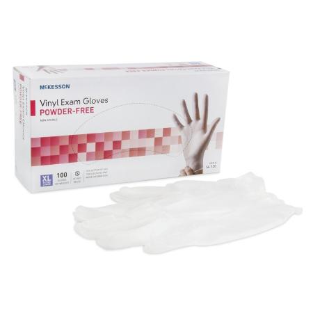 Mckesson Powder Free Vinyl Exam Gloves, NonSterile, X-Large