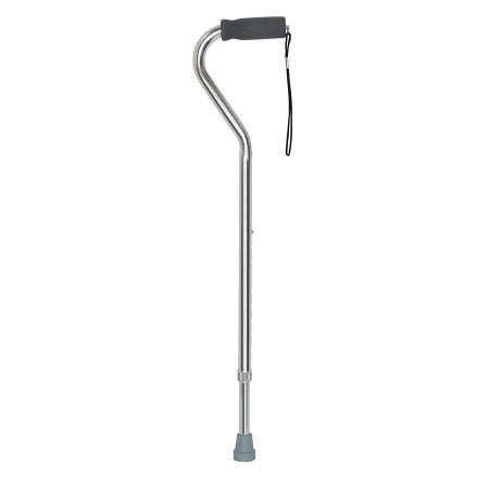 McKesson Aluminum Padded Handle Offset Cane, Silver