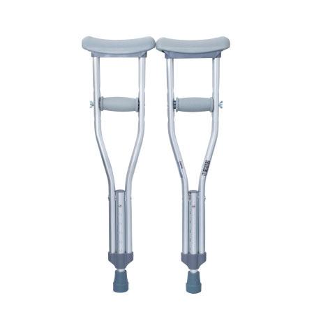 McKesson Push Button Adjustment Aluminum Frame Underarm Crutches, Child