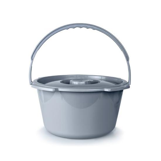 McKesson Metal Handle Commode Bucket, 7.5 Quart