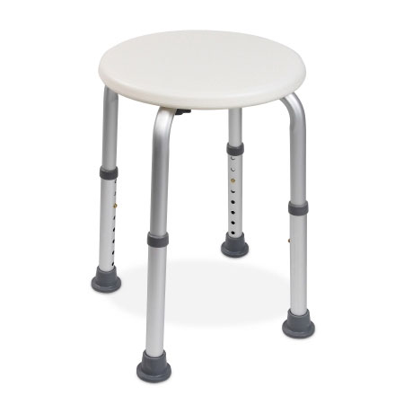 McKesson Aluminum Frame Without Arms Shower Stool, White