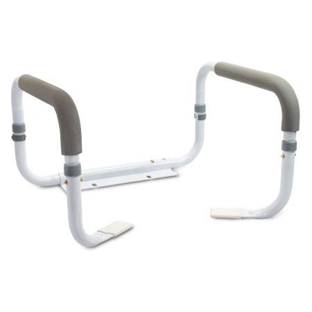 McKesson Steel Toilet Mount Safety Rail, White