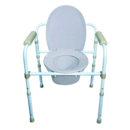 McKesson Fixed Arm Folding Commode Chair