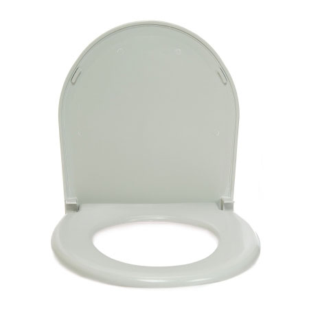 McKesson Medical Surgical Deluxe Commode Toilet Seat / Lid, 1 Inch Tubing