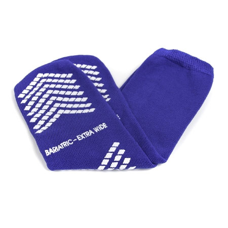 McKesson Terry Cloth Inner Slipper Bariatric Socks, Extra Wide