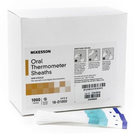 McKesson Non-Sterile Film and Paper Oral Thermometer Sheath