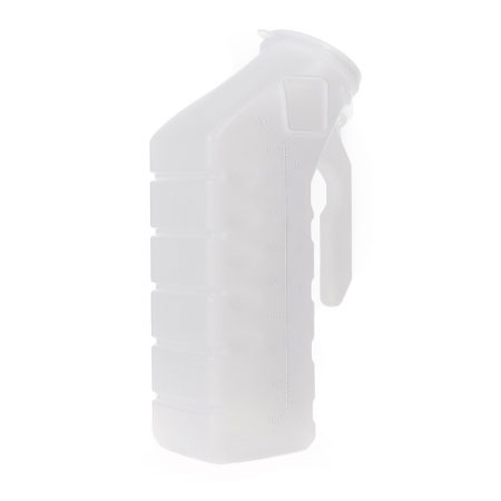 McKesson Single Patient Use Plastic Male Urinal With Cover, 32 oz.