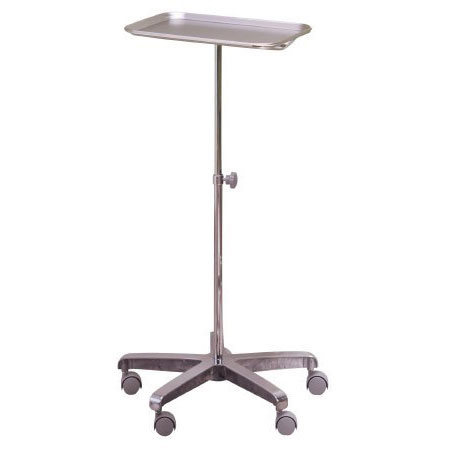 McKesson Stainless Steel Tubing Instrument Stand 12.62 x 19.25 x 0.75 Inch