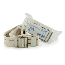 """McKesson Select Heavy Duty Gait Belt with Metal Buckle 60"""" White"""