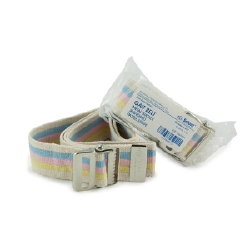 """Mckesson Select Gait Belt with Metal Buckle 60"""" Pastel striped"""
