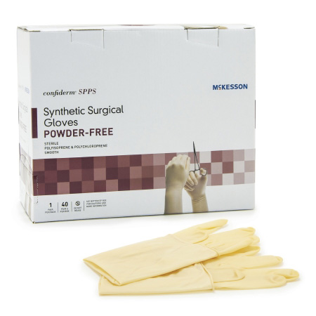 Confiderm SPPS Sterile Powder Free Hand Surgical glove, Specific Smooth Yellow Size 9