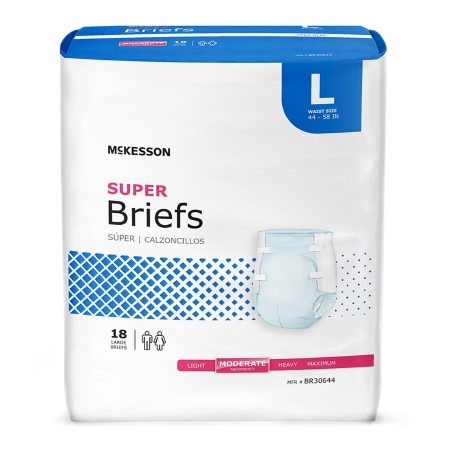 McKesson Super Moderate Absorbent Incontinence Brief