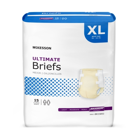 McKesson Ultimate Disposable Heavy Absorbent Incontinence Brief