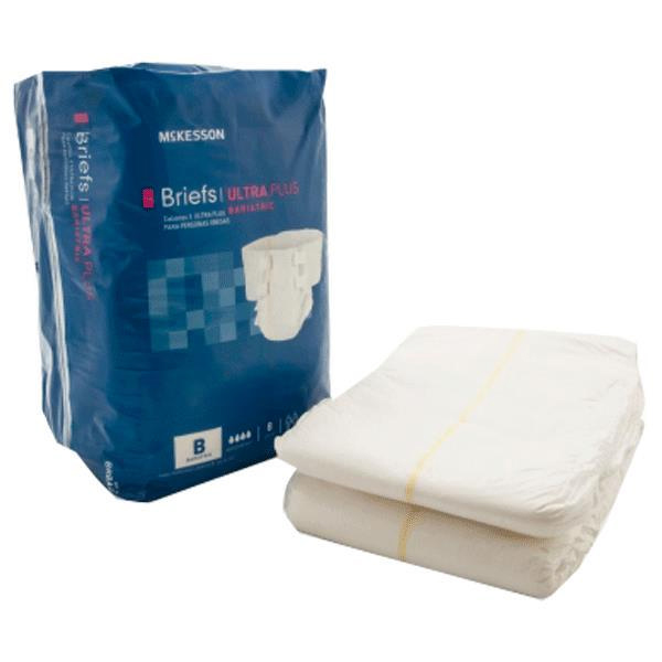 McKesson Ultra Plus Bariatric Tab Closure Adult Brief