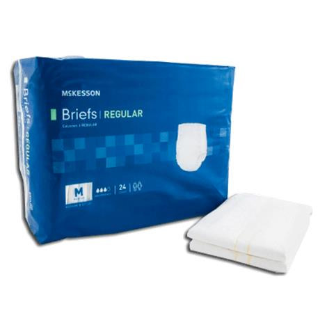 McKesson Regular Adult Incontinent Brief, Moderate Absorbency