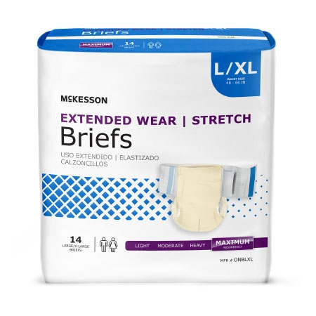McKesson Extended Heavy Absorbency Disposable Incontinence Brief