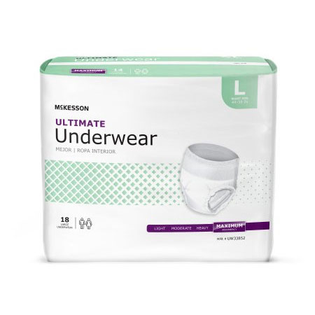 McKesson Ultimate Disposable Heavy Absorbency Absorbent Underwear