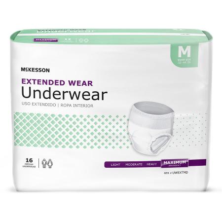 Extended Disposable Heavy Absorbency Absorbent Underwear, Medium