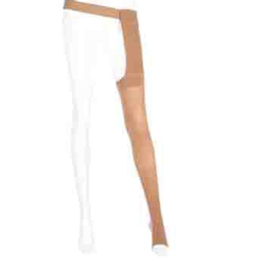 Mediven Plus Right Leg Thigh High Compression Stocking, Size 5, Beige