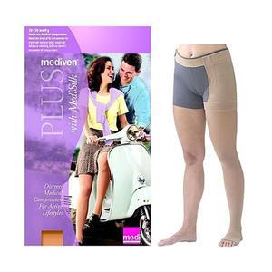 Mediven Plus Left Leg Thigh High Compression Stocking, Size 7, Beige