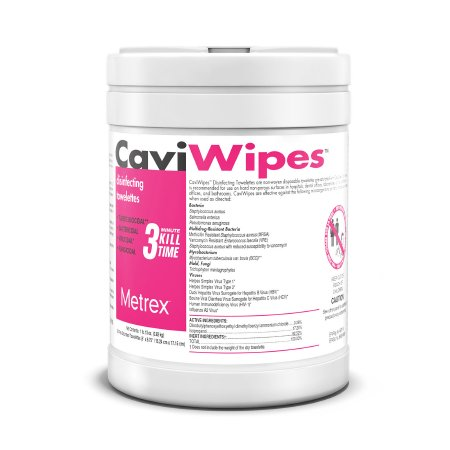 Metrex CaviWipes Disposable Surface Disinfectant Wipe, 160 Count