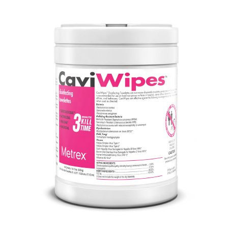 Metrex CaviWipes NonSterile Surface Disinfectant Wipe, 160 Count