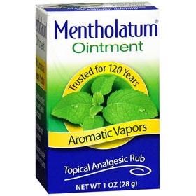 Mentholatum Menthol Topical Pain Relief Ointment, 1 oz.