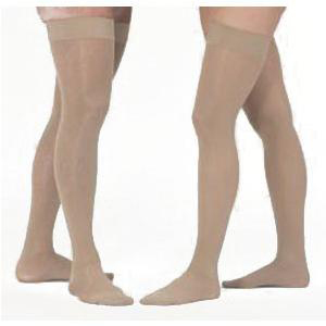 Mediven Assure Thigh High Compression Stockings, Small, Beige