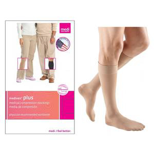 Mediven Plus Calf High Firm Compression Stocking, Size 5, Beige