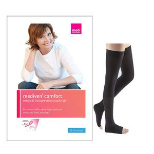 Mediven Comfort Thigh-High Compression Stocking, Open Toe
