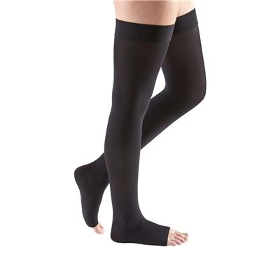 Mediven Comfort Thigh High Compression Stocking, Size 2, Ebony