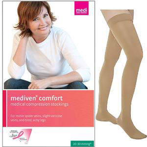 Mediven Comfort Thigh High Compression Stocking, Size 6, Natural