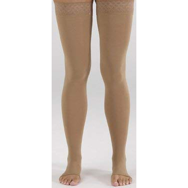 Mediven Comfort Thigh High Compression Stocking, Size 2, Petite,Natural