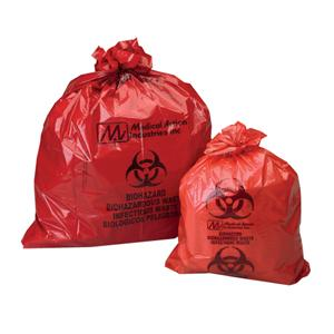 """Medegen Biohazardous Waste Collection Bag 23"""" x 23"""" 1-1/5 mil"""