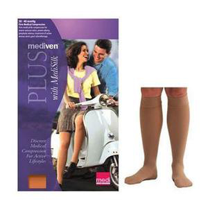 Mediven Plus Calf High X-Firm Compression Stocking, Size 5, Beige