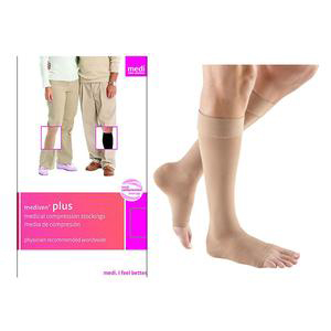 Mediven Plus Knee High Compression Stocking, Size 7, Beige
