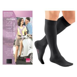 Mediven Plus Calf High Compression Stocking, Size 2, Black